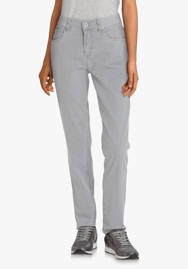 Jeans gris en tissu extensible – slim fit