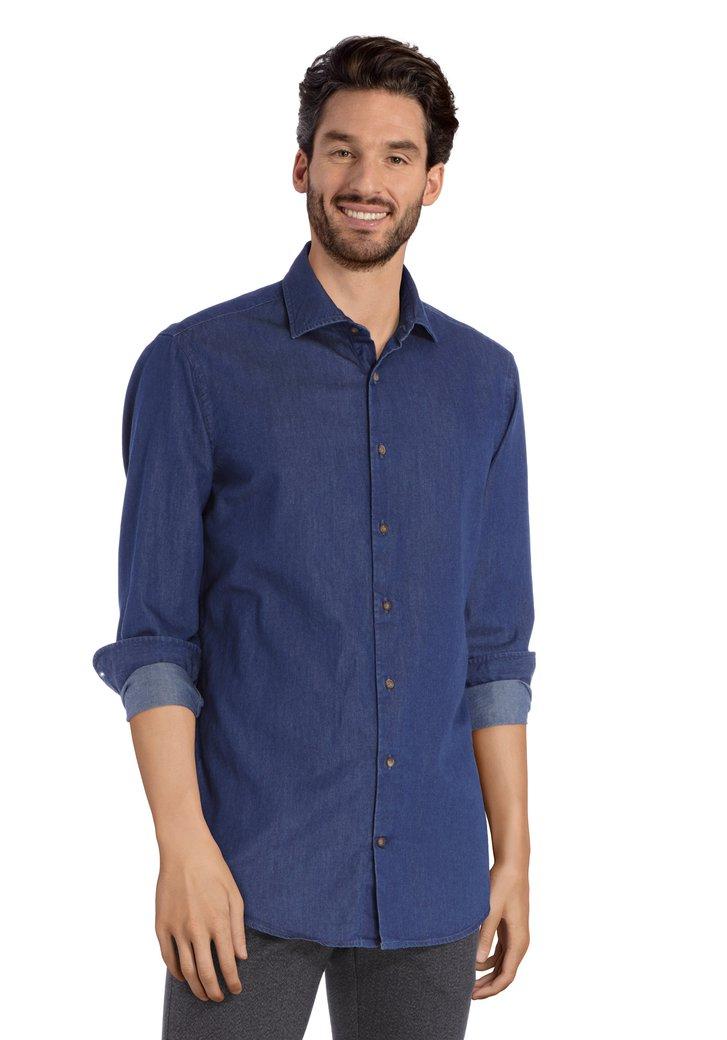 Jeansblauw hemd - slim fit