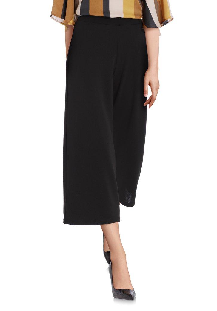 Jupe-culotte noire avec taille élastique