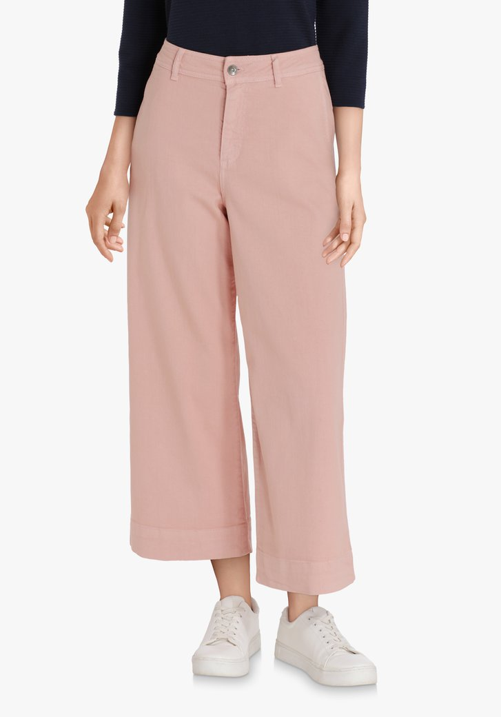 Jupe-culotte rose clair – straight fit