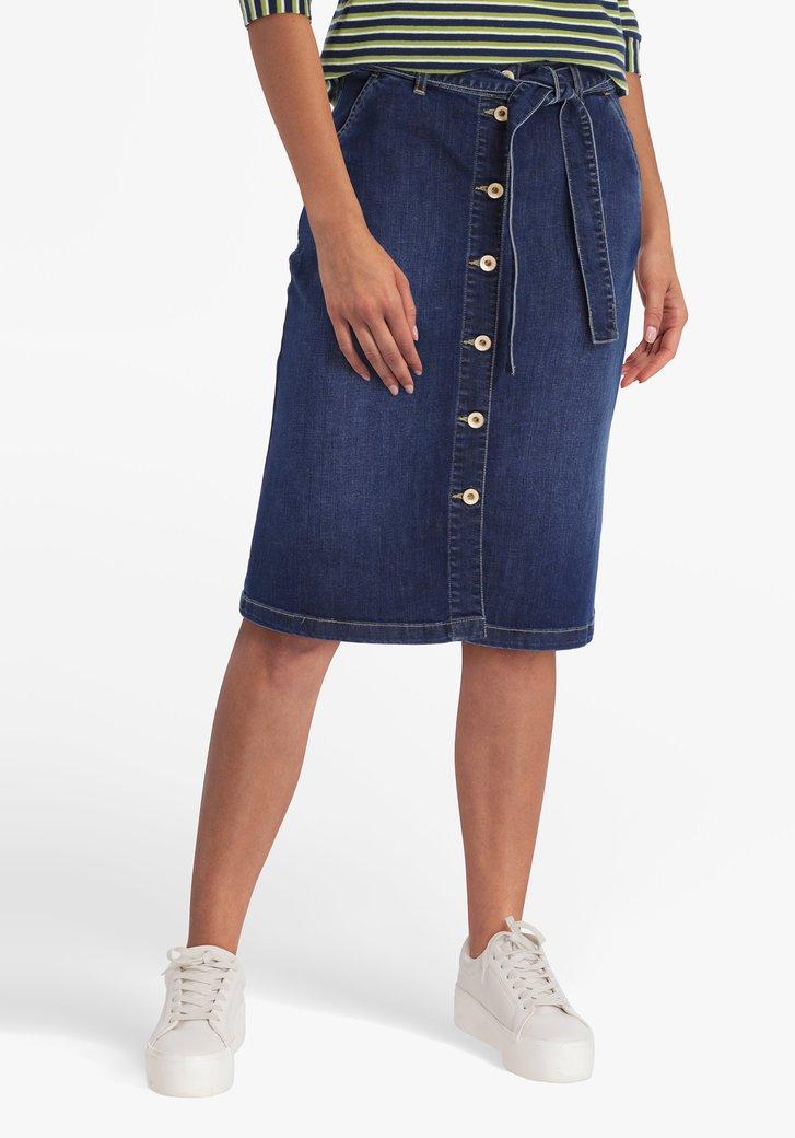 Jupe en jean avec ruban à la taille