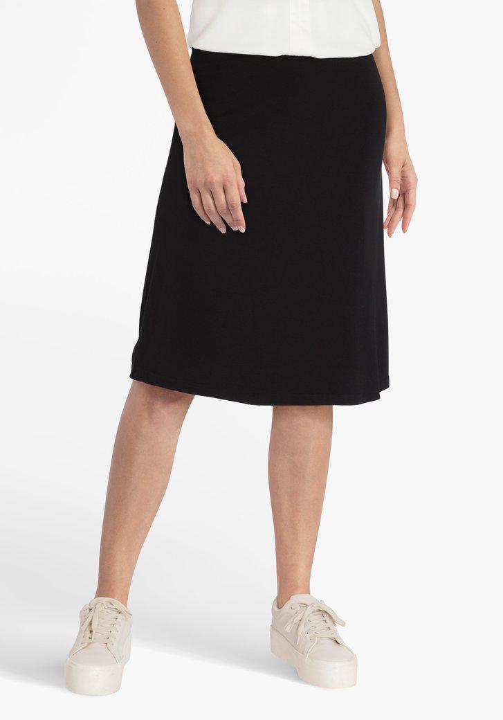 Jupe noire à taille élastiquée
