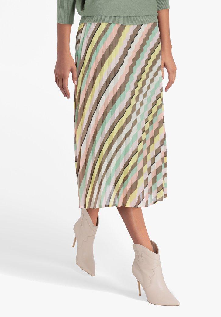 Jupe plissée aux couleurs pastel
