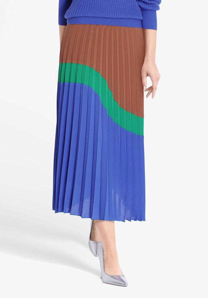 Jupe plissée en trois couleurs