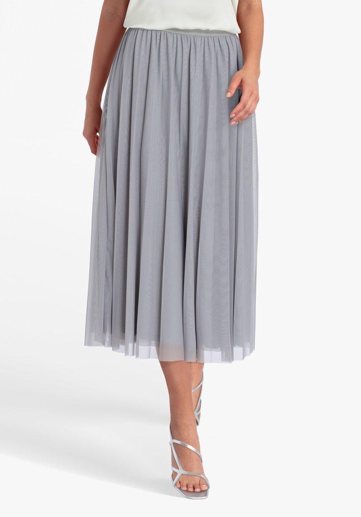 Jupe plissée grise avec taille élastique