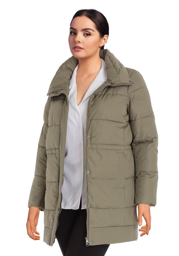 Afbeelding van Kaki gewatteerde jas