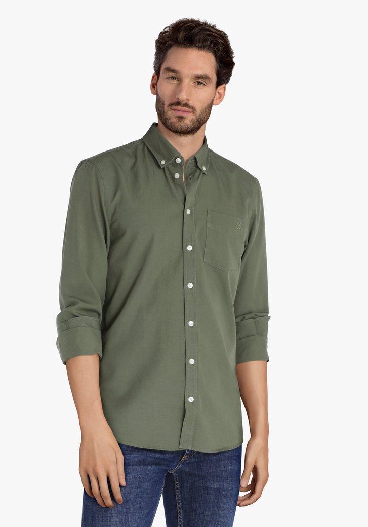 Kaki hemd - regular fit