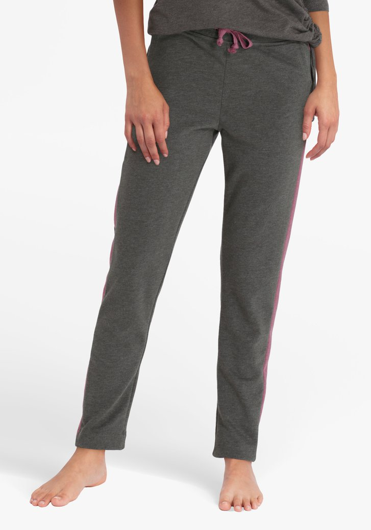 Kaki-roze joggingbroek