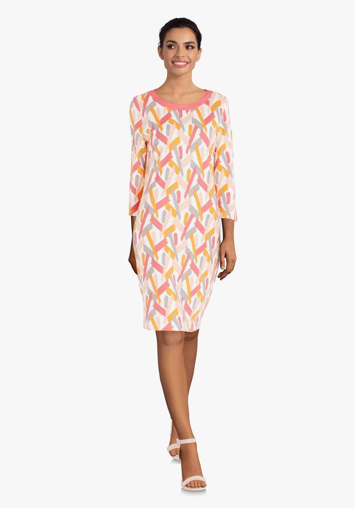 Kleed met koraalrode print