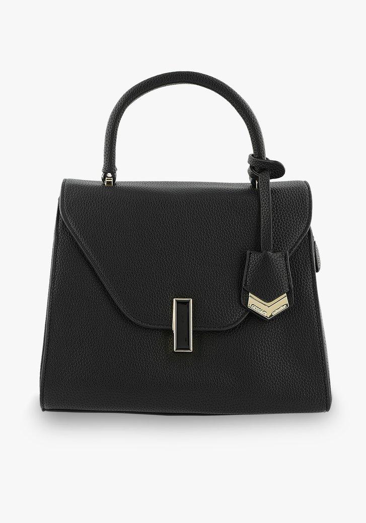 Kleine zwarte handtas in lederlook