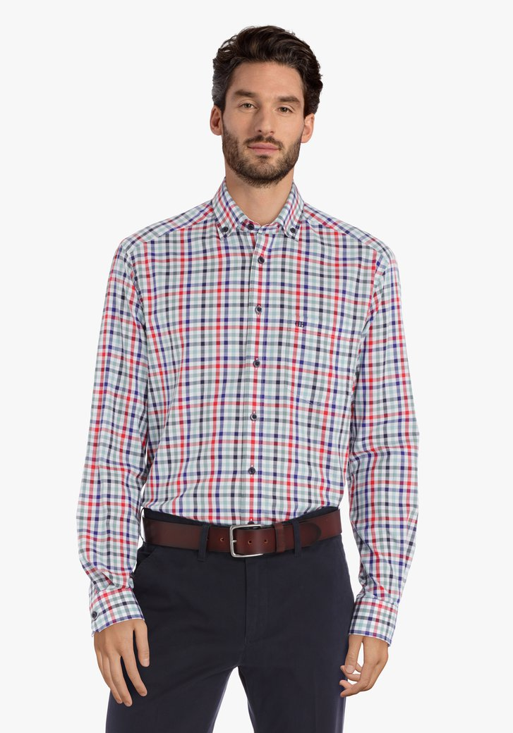 kleurrijk geruit hemd - comfort fit
