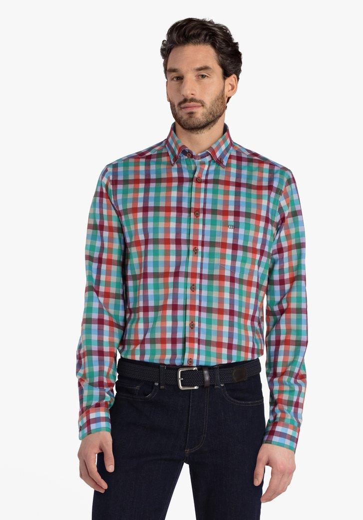 Kleurrijk geruit hemd - regular fit