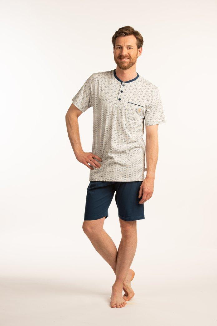 Afbeelding van Korte wit en blauwe pyjama