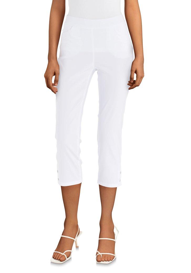 Korte witte legging