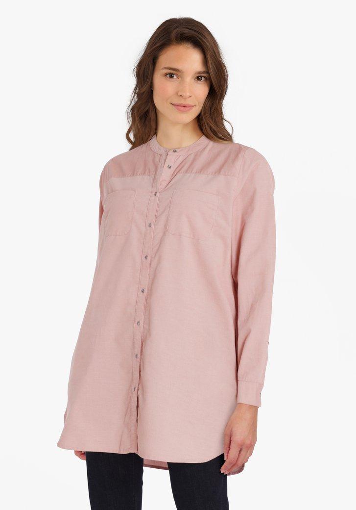 Lange lichtroze blouse
