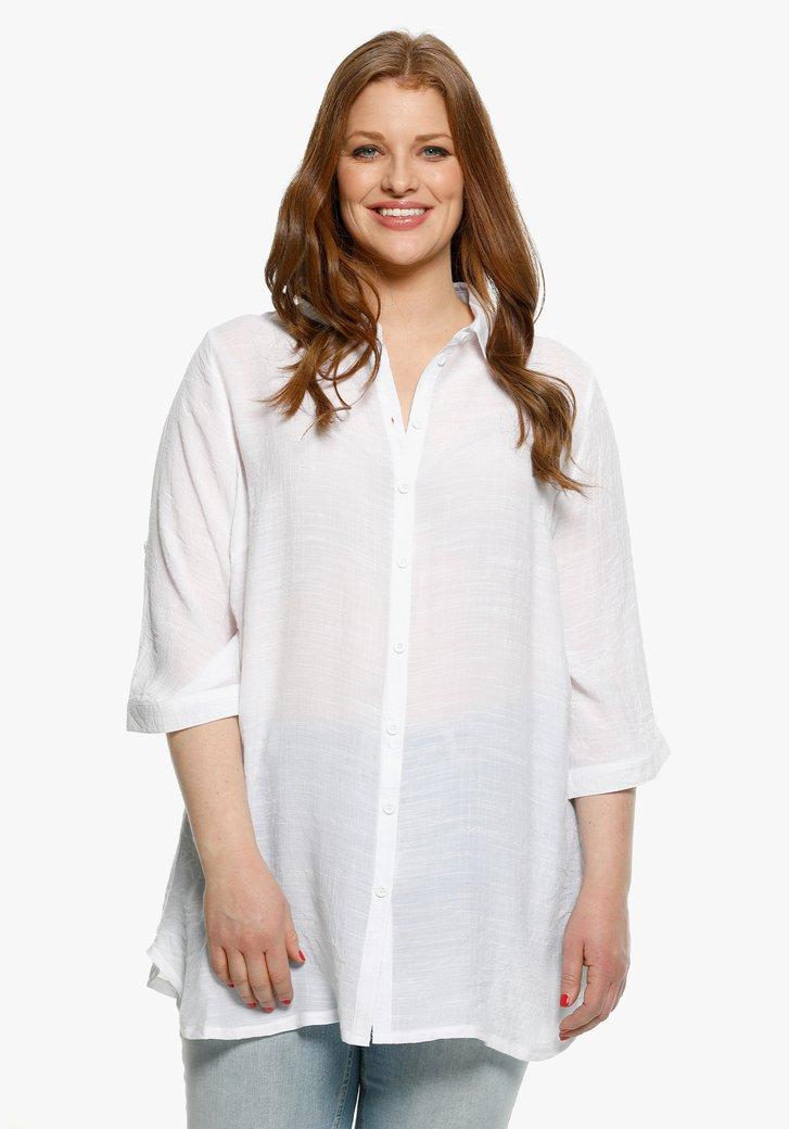 Lange witte blouse