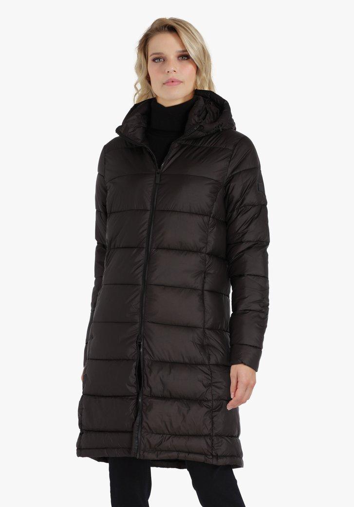 Lange zwarte puffer jacket