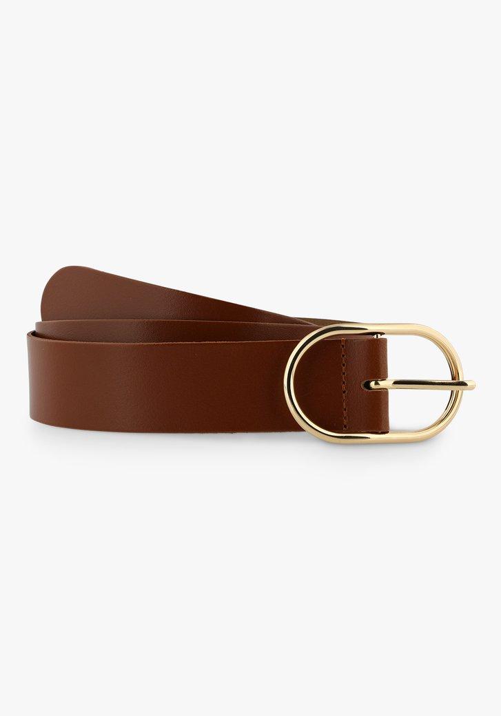 Large ceinture brune