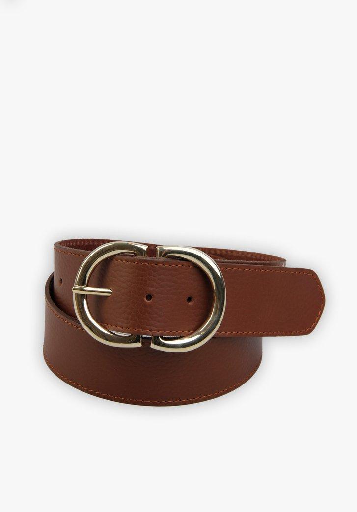 Large ceinture marron avec boucle dorée