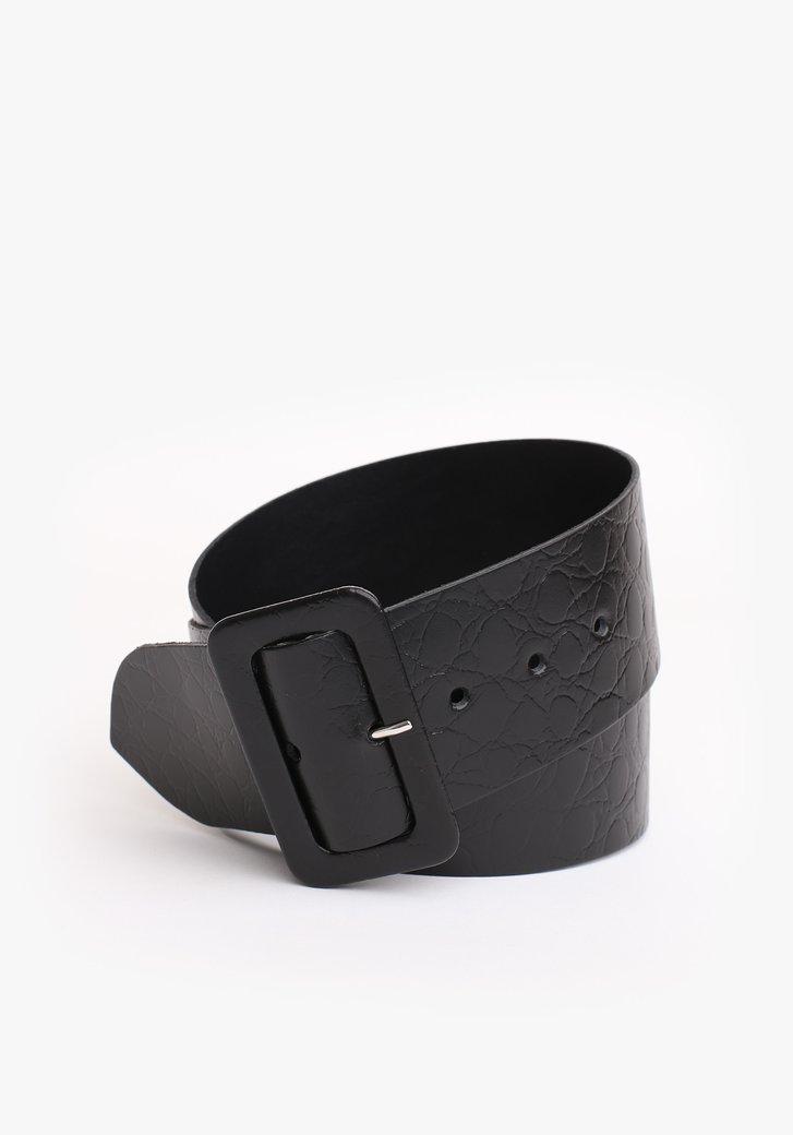 Large ceinture noire avec motif