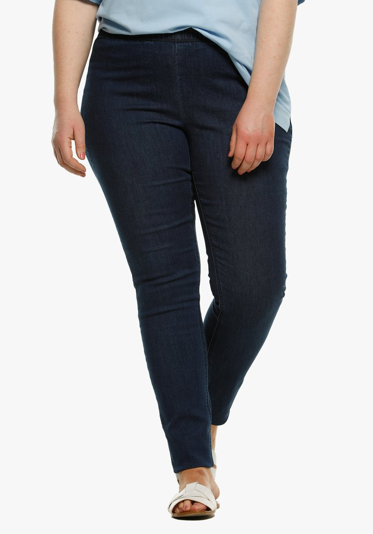 Legging met jeans look