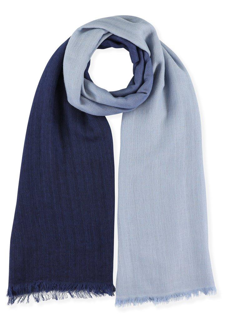 Licht- en donkerblauwe foulard