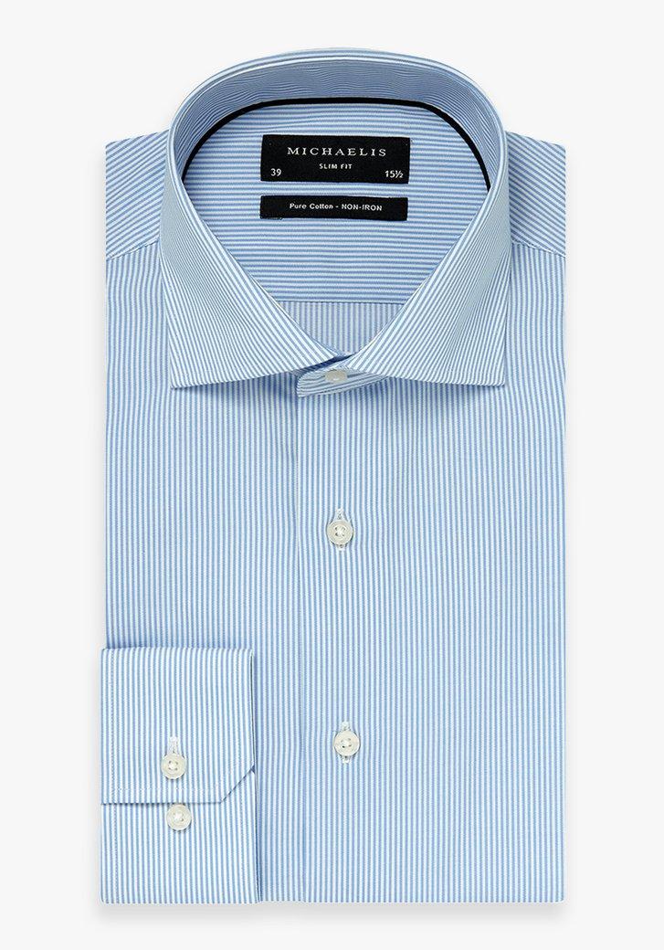 Afbeelding van Lichtblauw gestreept hemd - slim fit
