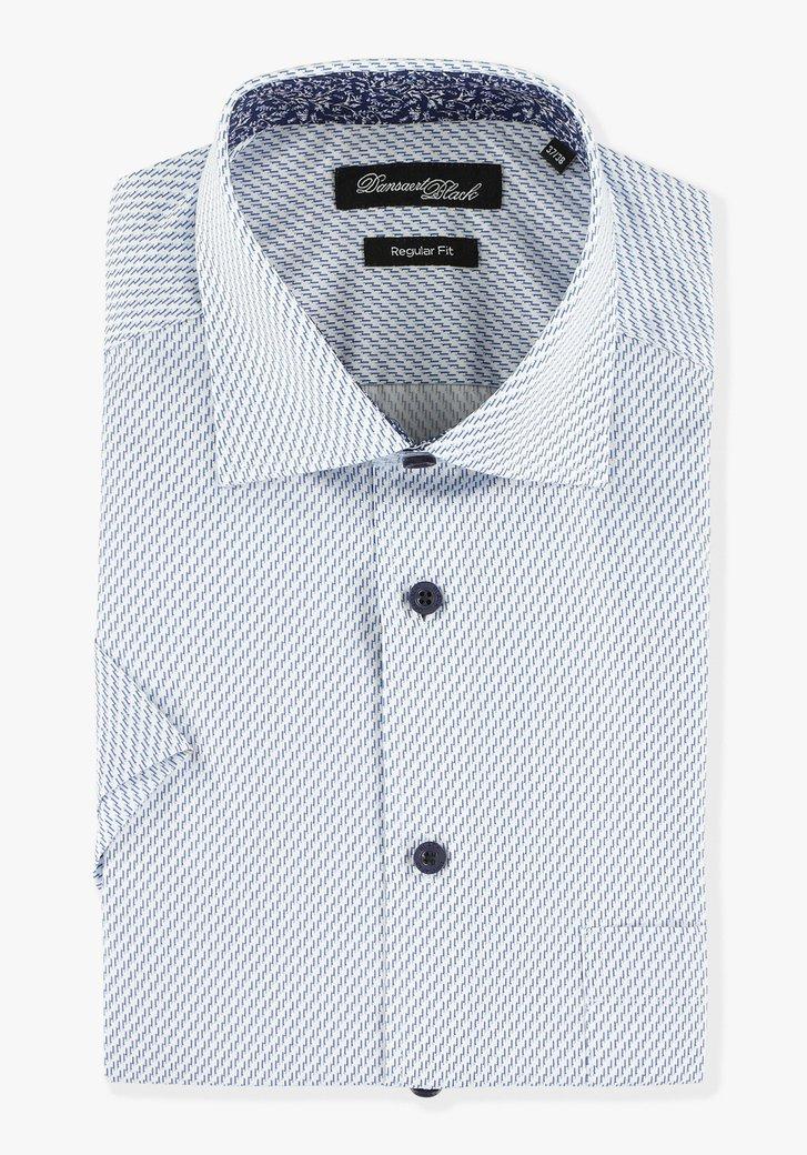 Lichtblauw hemd met korte mouwen - regular fit