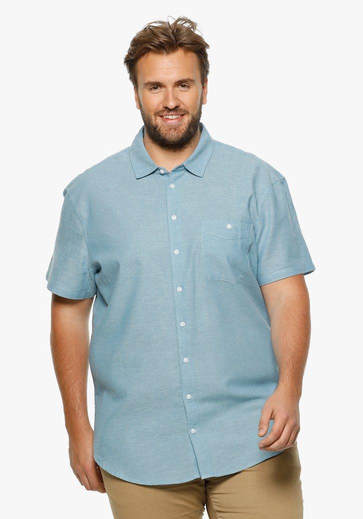 Lichtblauw hemd met linnen