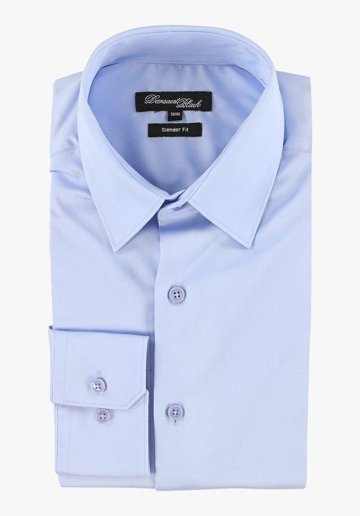 Lichtblauw hemd - slender fit Heren, merk: Dansaert Black