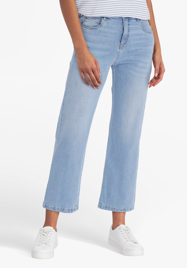 Lichtblauwe 7/8 jeans - mom fit