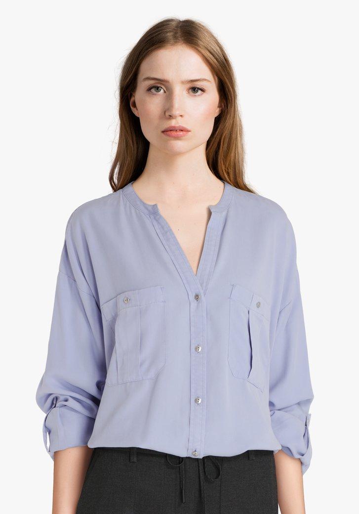 Lichtblauwe blouse van Lyocell