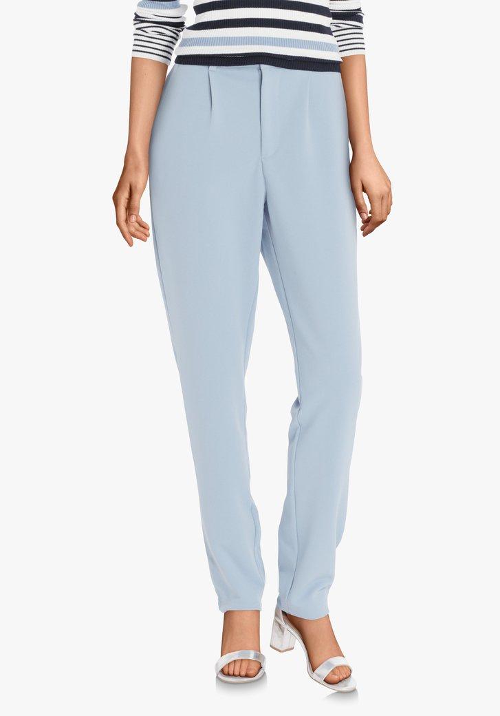 Lichtblauwe broek met stretch