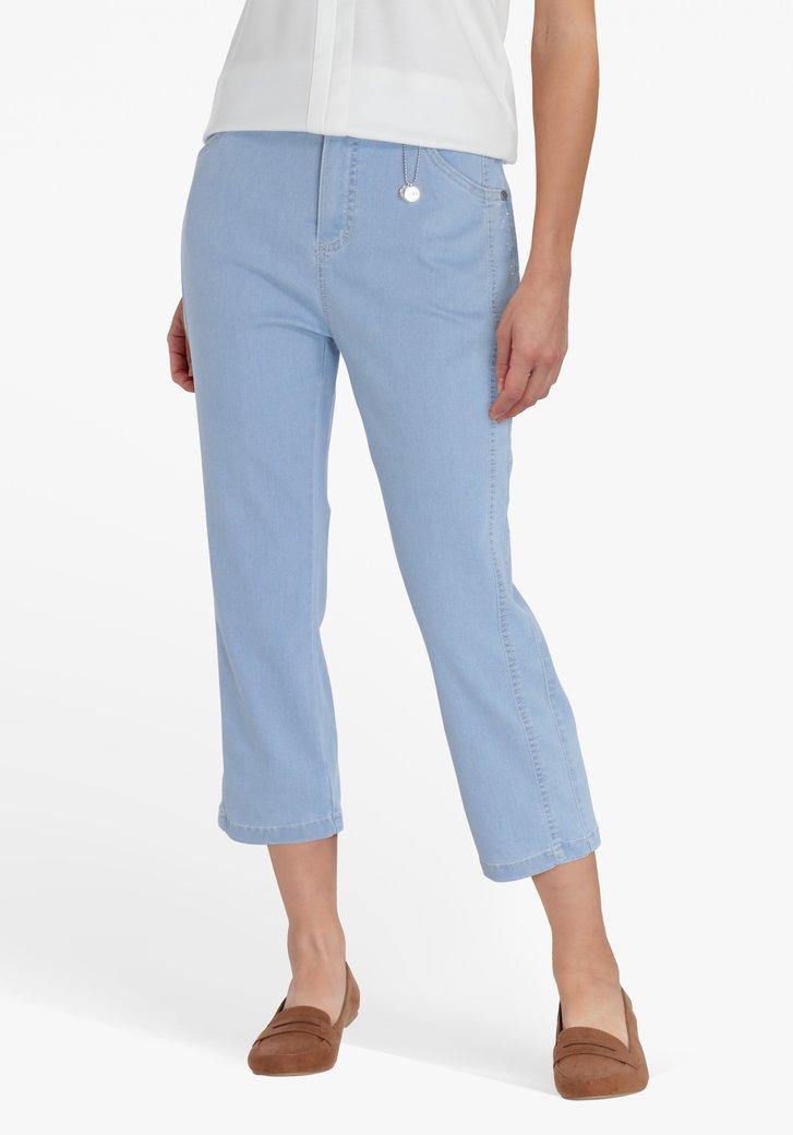 Lichtblauwe driekwart  jeans - comfort fit