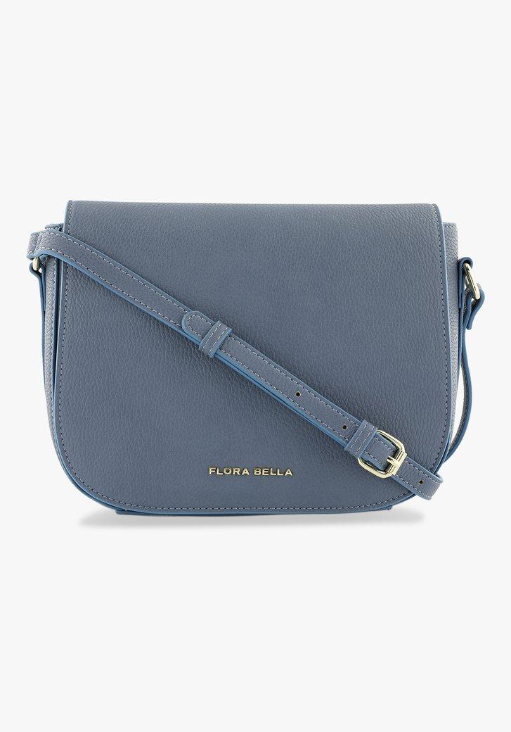 Lichtblauwe handtas met flap