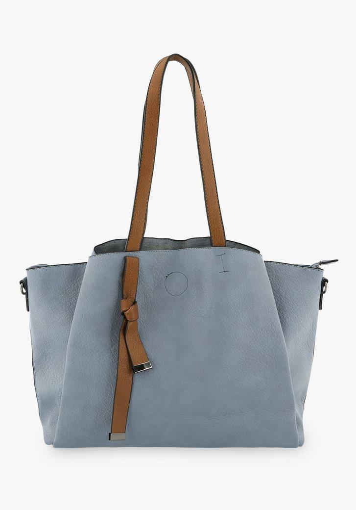 Lichtblauwe handtas met schouderriem