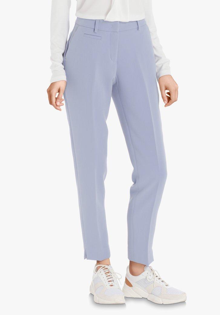 Lichtblauwe kostuumbroek – slim fit