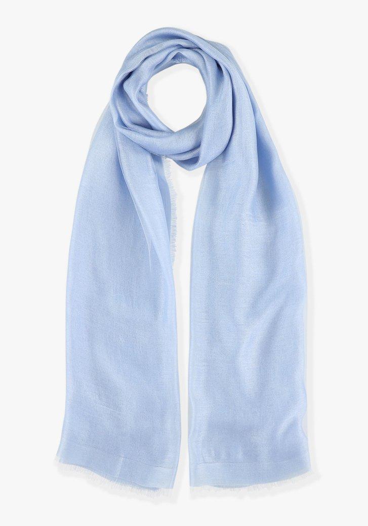 Lichtblauwe sjaal met zijde