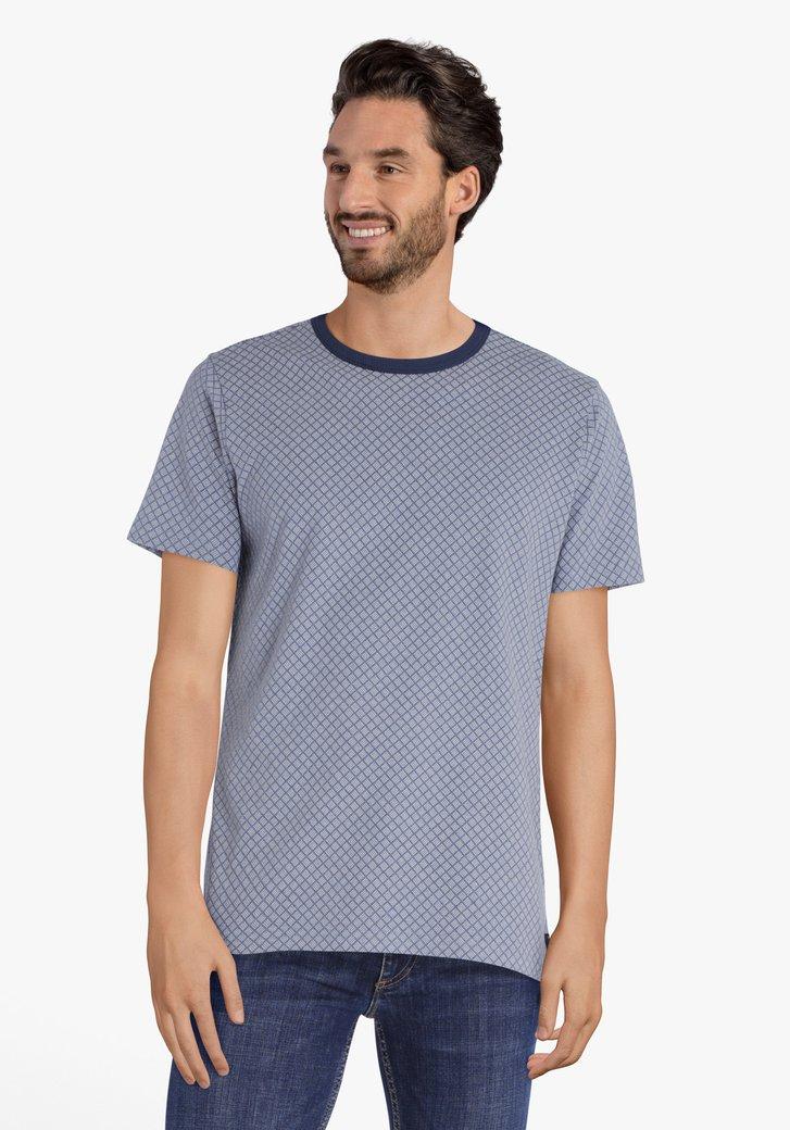 Lichtblauwe T-shirt met print