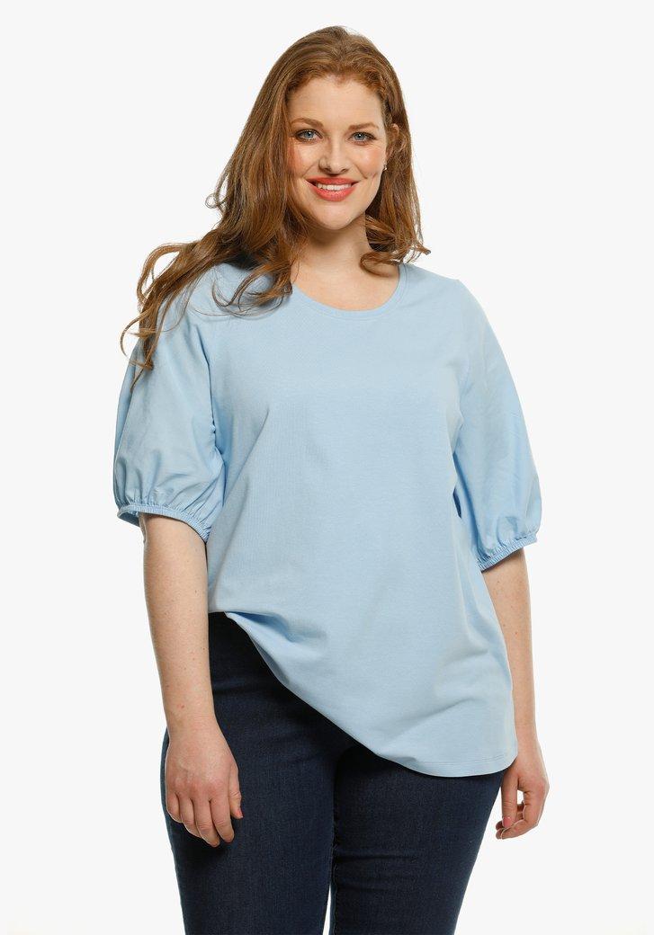 Lichtblauwe T-shirt
