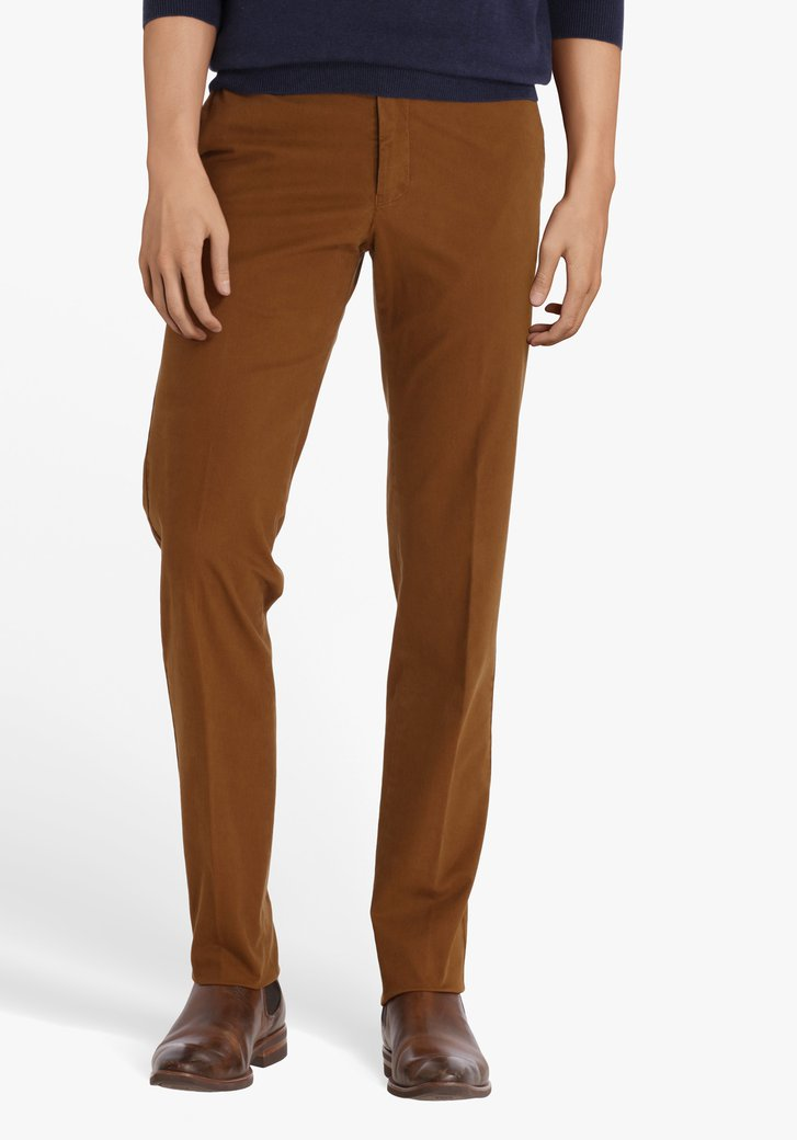 Lichtbruine chino - Dallas - slim fit