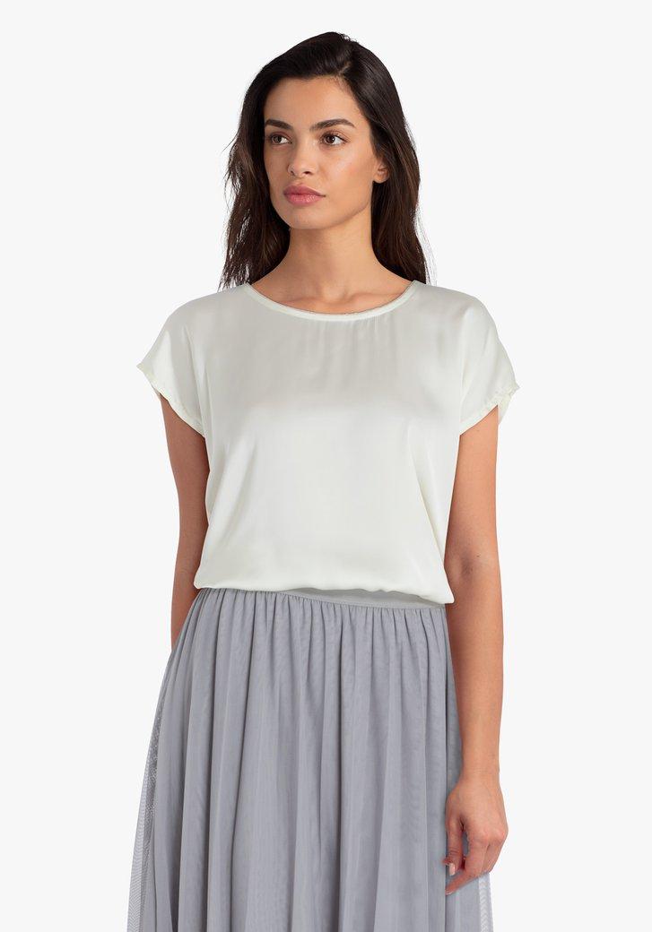 Lichtgele blouse
