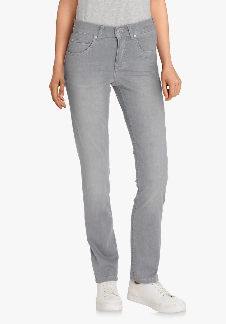 Lichtgrijze jeans – straight fit