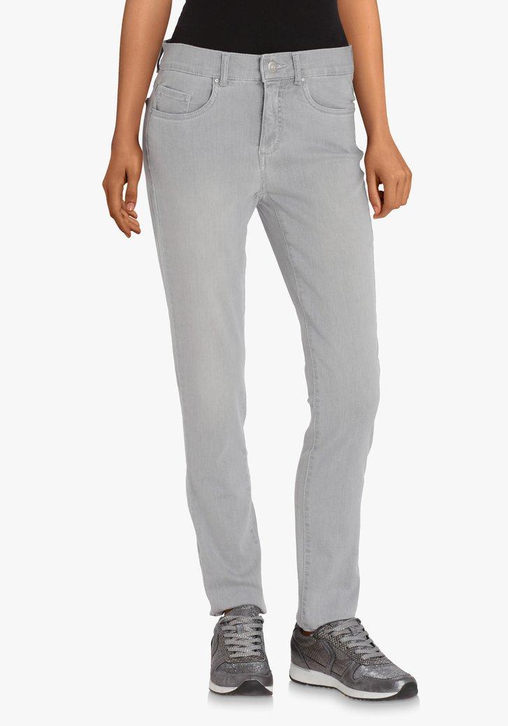 Lichtgrijze jeans in stretchstof – skinny fit