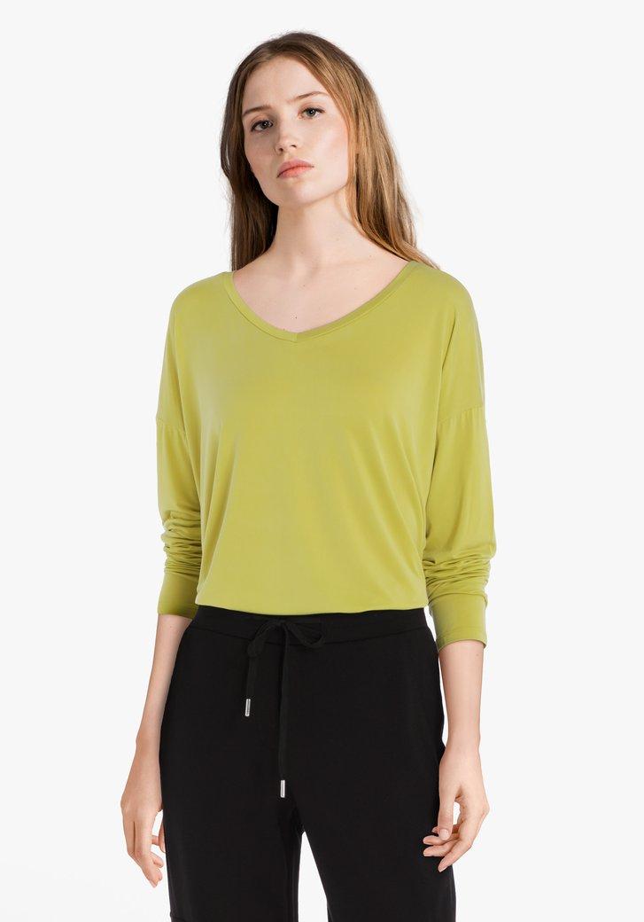 Lichtgroen T-shirt in cupro