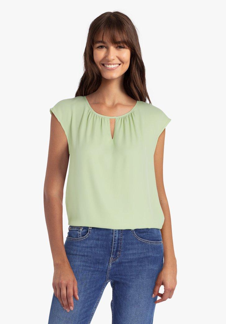 Lichtgroene blouse