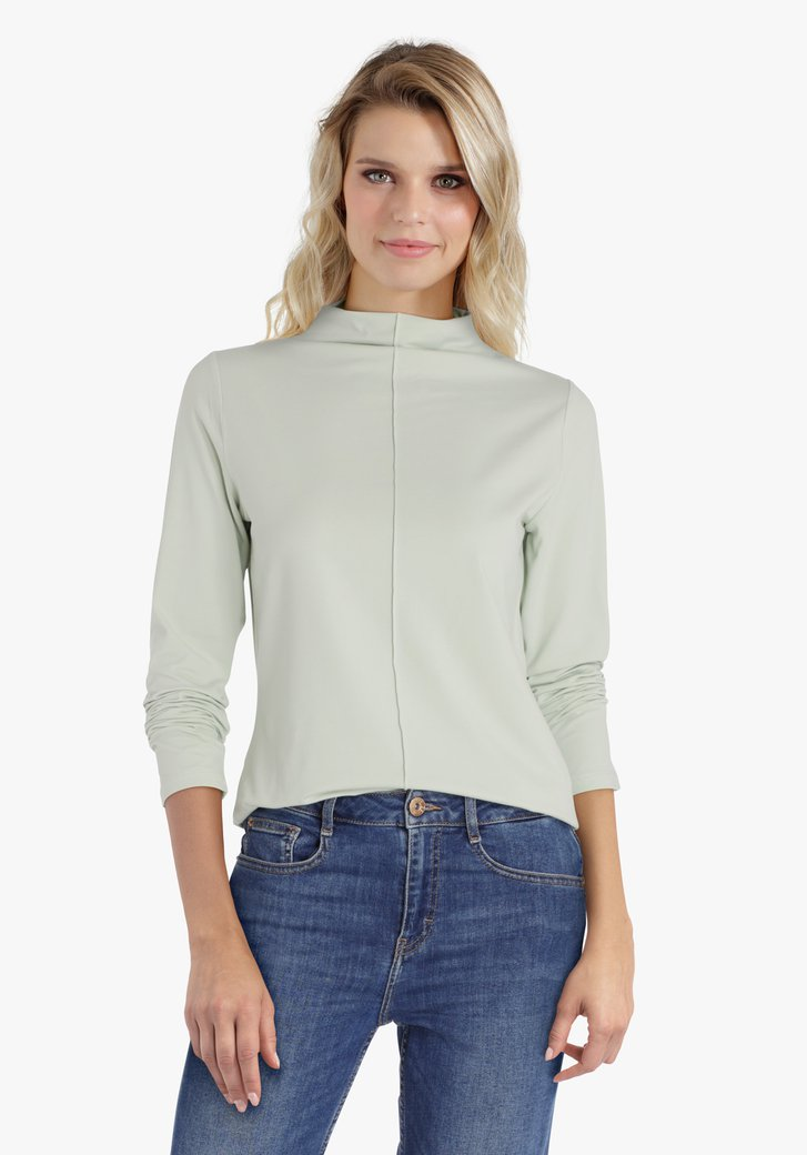 Lichtgroene T-shirt met kraagje