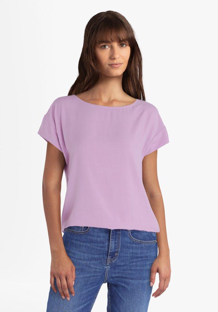 Lichtpaarse blouse