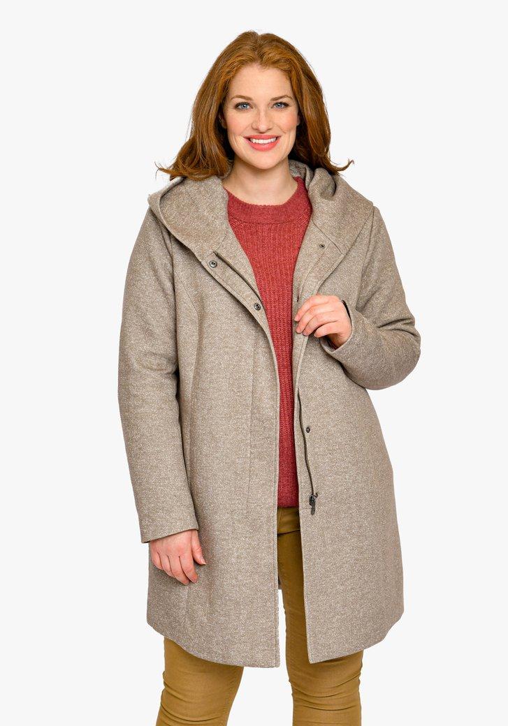 Manteau à capuche marron clair
