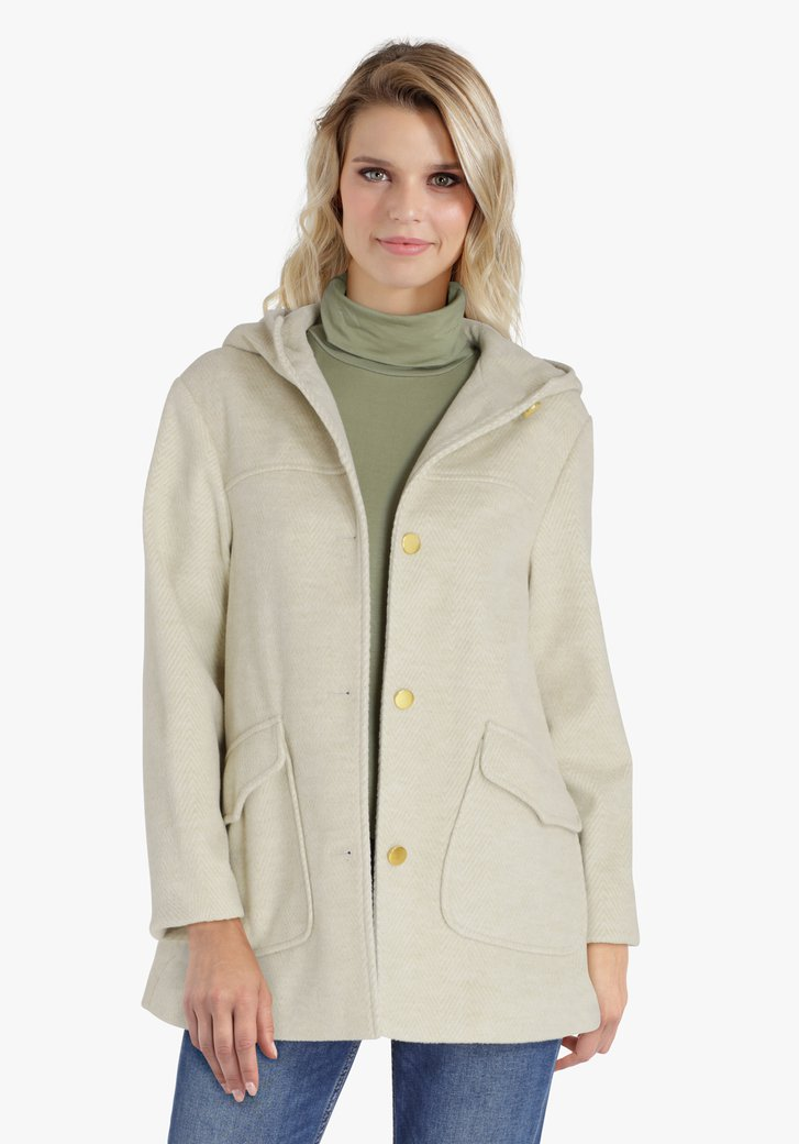 Manteau à capuche vert clair